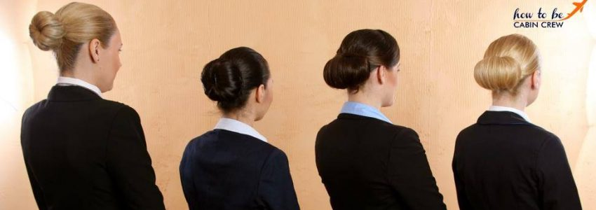 cabin crew hairstyle